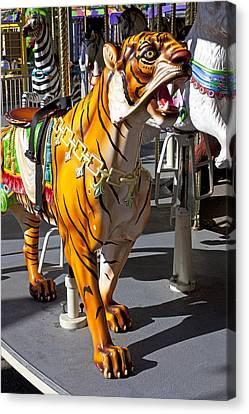 Tiger Carousel Ride Canvas Print by Garry Gay