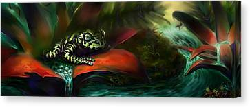 Tiger Frog Canvas Print by Rephfy