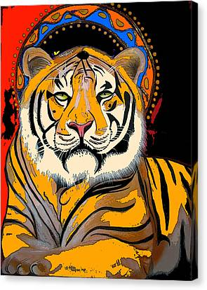 Tiger Saint Photoshop Canvas Print by Christina Miller