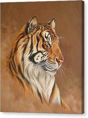 Tiger Tiger Canvas Print by Kathleen  Hill
