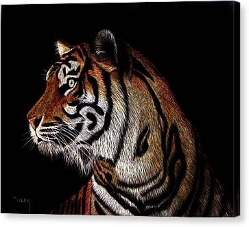 Tiger Tiger Canvas Print by Linda Hiller
