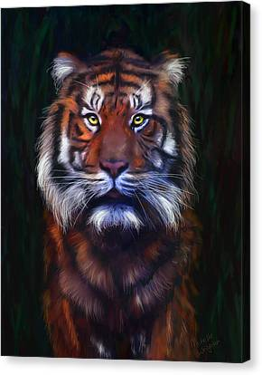 Tiger Tiger Canvas Print by Michelle Wrighton