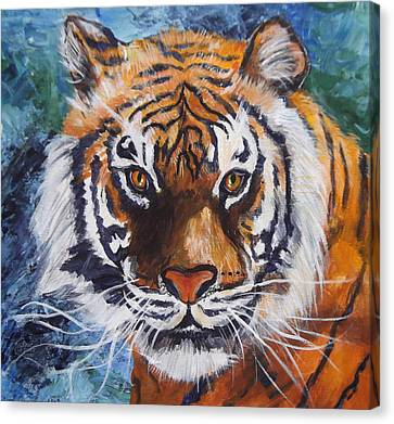 Tiger Canvas Print by Trudy Morris