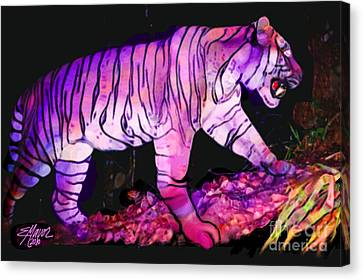 Tigertasia Canvas Print by Elinor Mavor