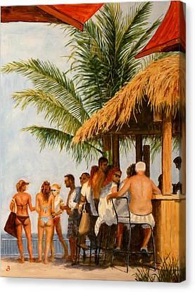 Tiki Bar Canvas Print