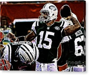 Tebow Canvas Print - Tim Tebow  -  Ny Jets Quarterback by Paul Ward