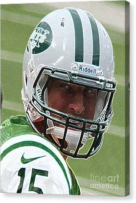 Tim Tebow Art Deco IIi - New York Jets -  Canvas Print by Lee Dos Santos