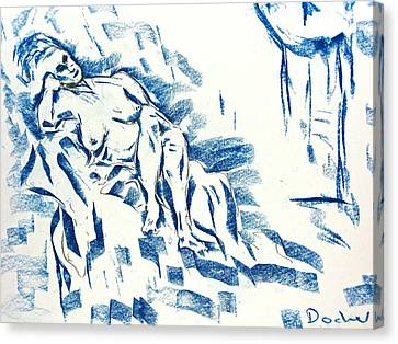 Canvas Print featuring the drawing Time by Brian Sereda