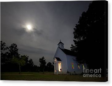 Old Home Place Canvas Print - Time For Church by Keith Kapple