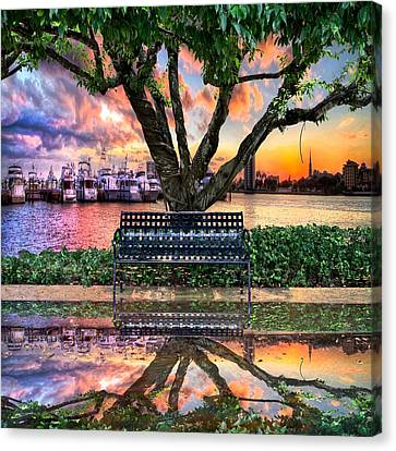 Time For Reflection Canvas Print by Debra and Dave Vanderlaan