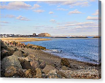 Time-honored New England Coast Canvas Print by Extrospection Art