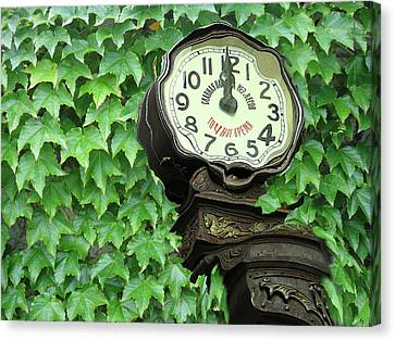 Time In Green Canvas Print