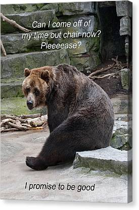 Time Out Bear Canvas Print