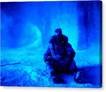 Time Stopped In A Huge Snow Ice  Grotte Canvas Print by Colette V Hera  Guggenheim