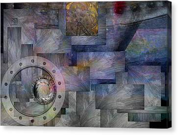 Canvas Print featuring the painting Time Travelers by Jean Moore