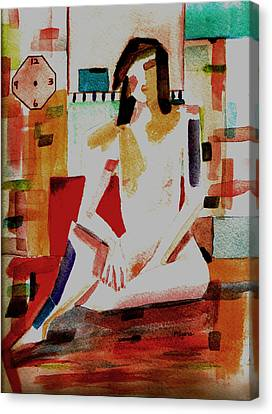 Canvas Print featuring the painting Timeless by Paula Ayers