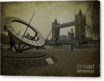 Canvas Print featuring the photograph Timepiece. by Clare Bambers