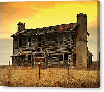 Canvas Print featuring the photograph Times Past by Marty Koch