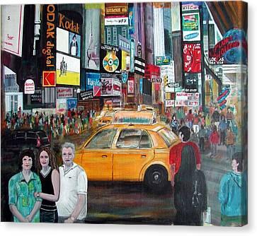 Times Square Canvas Print by Anna Ruzsan