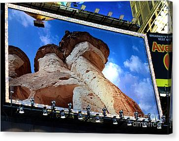 Times Square Billboards Canvas Print by Pravine Chester