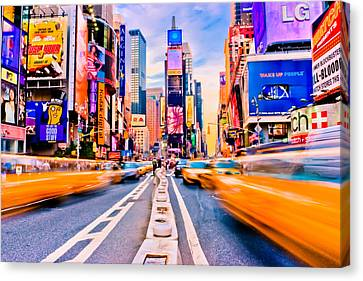 Times Square Canvas Print by David Hahn