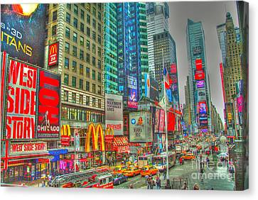 Times Square Canvas Print - Times Square One by Alberta Brown Buller