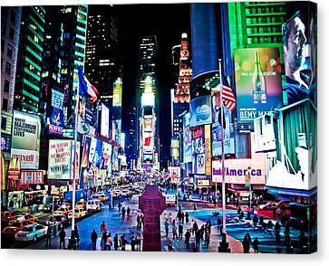 Times Square Canvas Print by Tim Eisenhauer