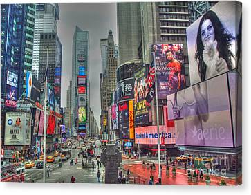 Times Square Canvas Print - New York Times Square Two by Alberta Brown Buller