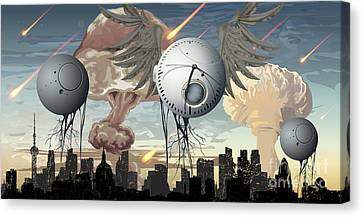 Survive Canvas Print - Time's Up by Keith Kapple