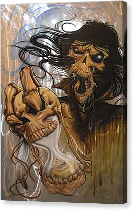 Airbrush Canvas Print - Times Up by Mike Royal