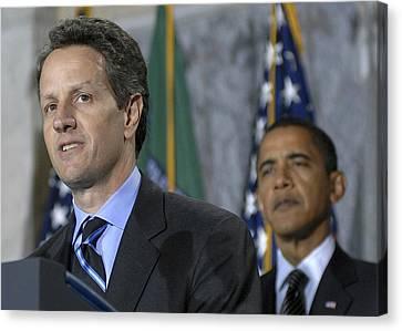 Timothy Geithner Speaks Canvas Print
