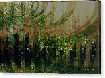 Tin City Canvas Print by Kathy Sheeran