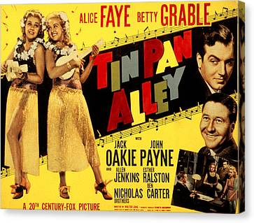 Tin Pan Alley, Alice Faye, Betty Canvas Print by Everett