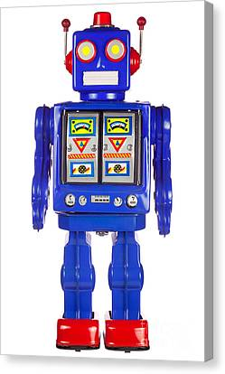 Tin Robot Arms By His Side Canvas Print by Richard Thomas