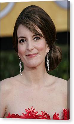 Dangly Earrings Canvas Print - Tina Fey At Arrivals For 17th Annual by Everett