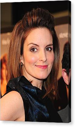 Tina Fey At Arrivals For Date Night Canvas Print by Everett