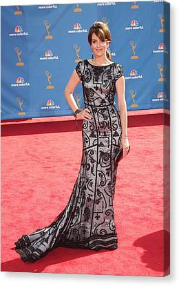 Tina Fey Wearing Oscar De La Renta Canvas Print by Everett