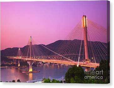 Island Stays Canvas Print - Ting Kau Bridge by MotHaiBaPhoto Prints