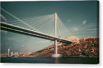 Ting Kau Bridge Canvas Print by Yiu Yu Hoi
