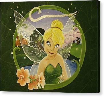Tink Canvas Print by Rebecca Marquardt