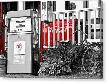 Tinted Fuel For Life Canvas Print by Brenda Giasson