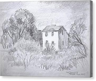 Tiny Country House Canvas Print by Bill Joseph  Markowski