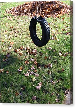 Tire Swing Canvas Print by Todd Sherlock