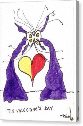 Tis Valentine's Day Canvas Print by Tis Art