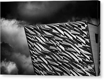 Titanic Building Titanic Quarter Queens Island Belfast Northern Ireland Uk Canvas Print by Joe Fox