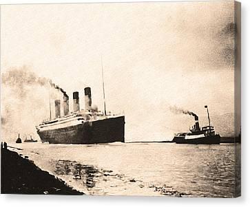 Titanic - Heading Out To Sea Canvas Print