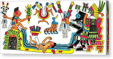 Tlaloc, Aztec God Of Rain, 15th Century Canvas Print by Photo Researchers