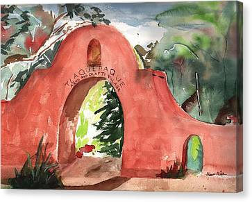 Tlaquepaque Arts And Crafts Village Canvas Print by Sharon Mick