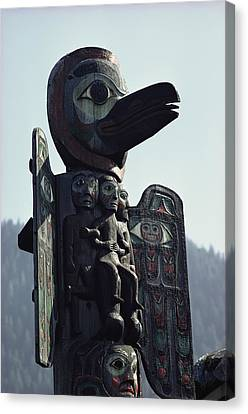 Tlingit Indian Totem Pole Canvas Print by George F. Mobley