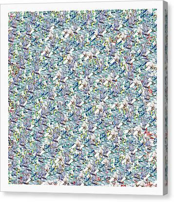 To Pollock Canvas Print by Antonio Carlos  Vargas SantAnna